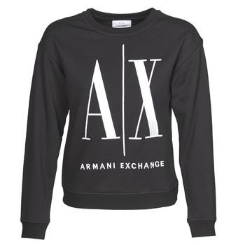 Oblačila Ženske Puloverji Armani Exchange 8NYM02 Črna