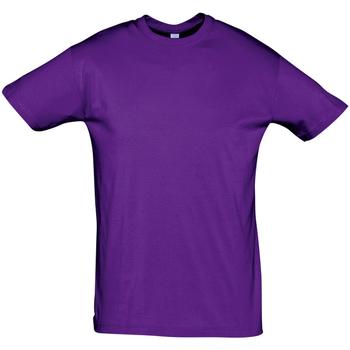 Oblačila Moški Majice s kratkimi rokavi Sols REGENT COLORS MEN Violeta