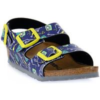Čevlji  Otroci Sandali & Odprti čevlji Birkenstock MILANO ROBOTS BLUE CALZ S Blu