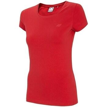 Oblačila Ženske Majice s kratkimi rokavi 4F TSD001 Rdeča