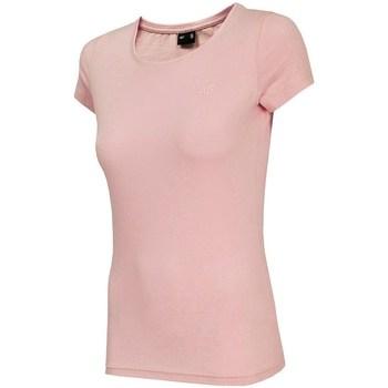 Oblačila Ženske Majice s kratkimi rokavi 4F TSD001 Roza