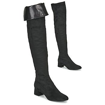 Čevlji  Ženske Visoki škornji Unisa LUKAS Črna