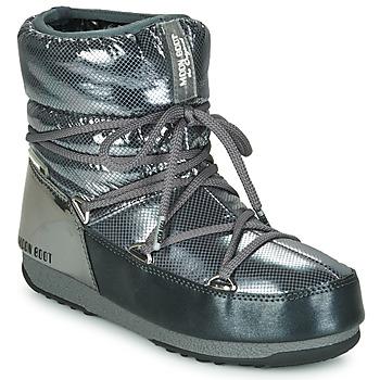 Čevlji  Ženske Škornji za sneg Moon Boot MOON BOOT LOW SAINT MORITZ WP Siva