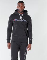 Oblačila Moški Puloverji Champion HEAVY COMBED COTTON Črna