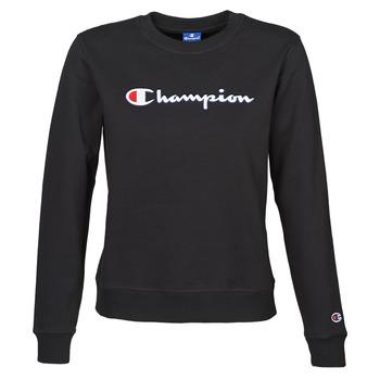 Oblačila Ženske Puloverji Champion HEAVY COMBED COTTON FLEECE Črna