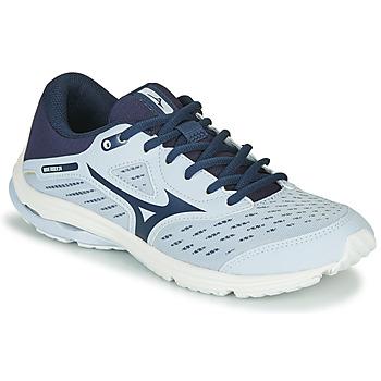 Čevlji  Deklice Tek & Trail Mizuno WAVE RIDER JR Modra