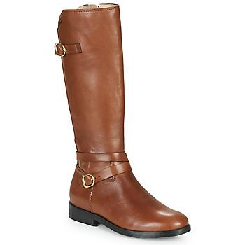 Čevlji  Deklice Mestni škornji    Acebo's 9863-CUERO-T Kostanjeva