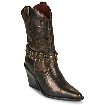 Čevlji  Ženske Gležnjarji Bronx NEW KOLE Črna / Pozlačena