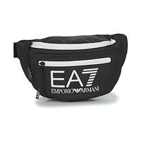 Torbice Moški Torbice za okrog pasu Emporio Armani EA7 TRAIN CORE U SLING BAG Črna / Bela