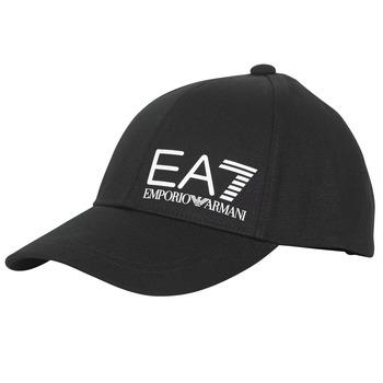 Tekstilni dodatki Moški Kape s šiltom Emporio Armani EA7 TRAIN CORE ID M LOGO CAP Črna