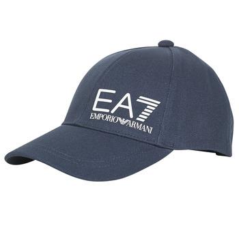 Tekstilni dodatki Moški Kape s šiltom Emporio Armani EA7 TRAIN CORE ID M LOGO CAP Modra