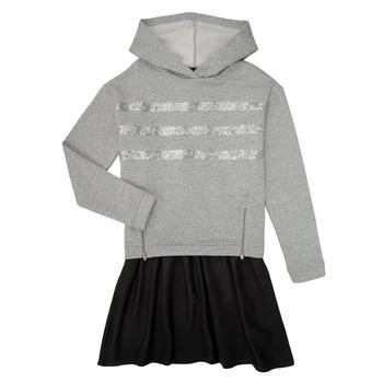 Oblačila Deklice Kratke obleke Ikks XR30112 Siva