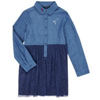 Oblačila Deklice Kratke obleke Ikks XR30122 Modra