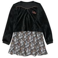 Oblačila Deklice Kratke obleke Ikks XR30162 Črna