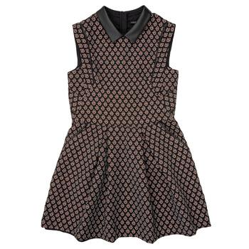 Oblačila Deklice Kratke obleke Ikks XR30212 Črna