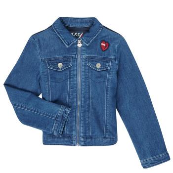 Oblačila Deklice Jeans jakne Ikks XR40052 Modra