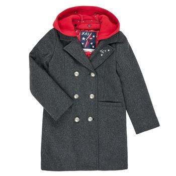 Oblačila Deklice Plašči Ikks XR44012 Siva