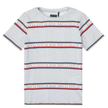 Oblačila Dečki Majice s kratkimi rokavi Ikks XR10003 Siva