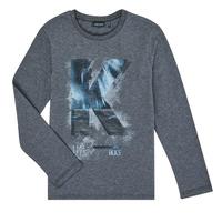 Oblačila Dečki Majice z dolgimi rokavi Ikks XR10203 Siva
