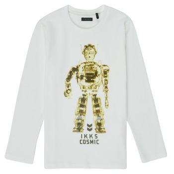 Oblačila Dečki Majice z dolgimi rokavi Ikks XR10233 Bela