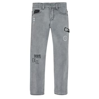 Oblačila Dečki Kavbojke slim Ikks XR29123 Siva