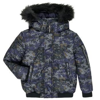 Oblačila Dečki Puhovke Ikks XR41133 Modra