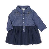 Oblačila Deklice Kratke obleke Ikks XR30150 Modra