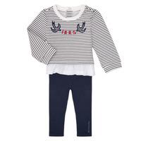 Oblačila Deklice Otroški kompleti Ikks XR36030 Bela