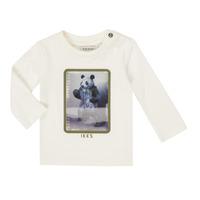 Oblačila Dečki Majice z dolgimi rokavi Ikks XR10101 Bela