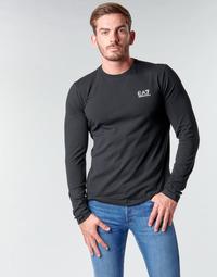Oblačila Moški Majice z dolgimi rokavi Emporio Armani EA7 TRAIN CORE ID M TEE LS ST Črna / Bela