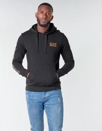 Oblačila Moški Puloverji Emporio Armani EA7 TRAIN LOGO SERIES M HOODIE RN COFT Črna