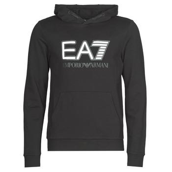 Oblačila Moški Puloverji Emporio Armani EA7 TRAIN VISIBILITY M HOODIE RN COFT Črna