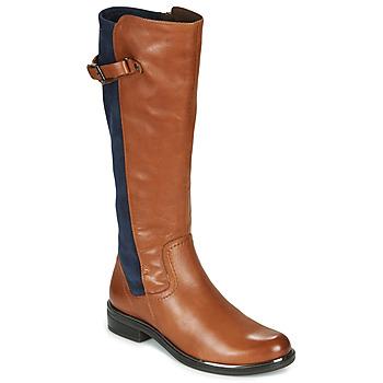 Čevlji  Ženske Mestni škornji    Caprice 25504-387 Cognac / Modra