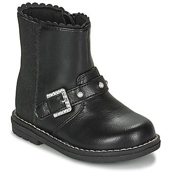 Čevlji  Deklice Mestni škornji    Chicco CANCAN Črna