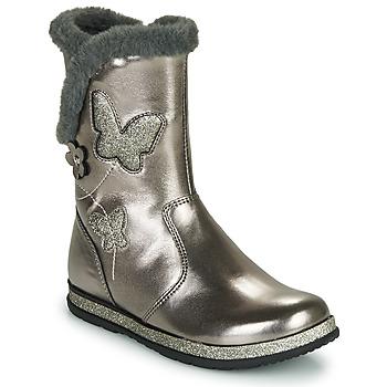 Čevlji  Deklice Mestni škornji    Chicco CAMPANELLA Srebrna