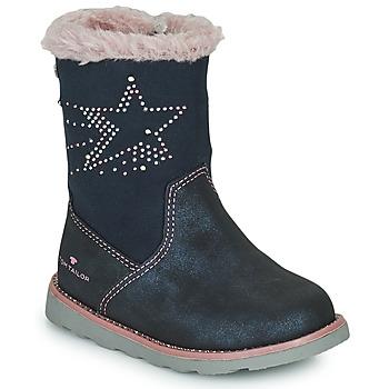 Čevlji  Deklice Mestni škornji    Tom Tailor 72307-BLEU Modra