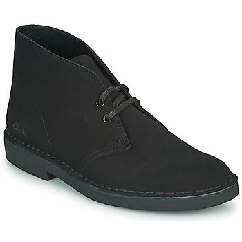 Čevlji  Moški Polškornji Clarks DESERT BOOT 2 Črna