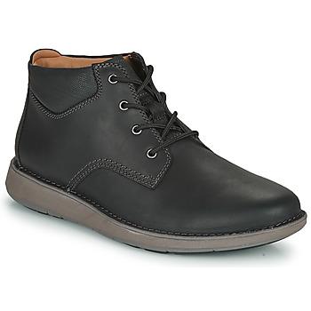 Čevlji  Moški Čevlji Derby Clarks UN LARVIK TOP2 Črna