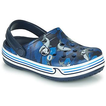 Čevlji  Dečki Cokli Crocs CROCBAND SHARK CLOG PS Modra