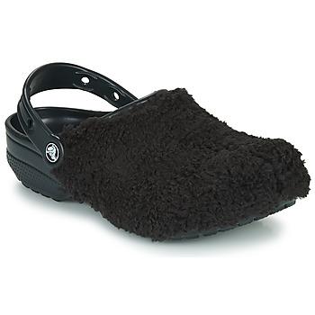 Čevlji  Cokli Crocs CLASSIC FUZZ MANIA CLOG Črna