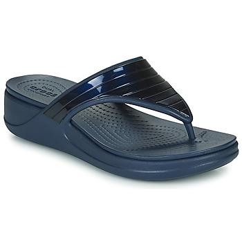 Čevlji  Ženske Japonke Crocs CROCSMONTEREYMETALLICSTPWGFPW Modra