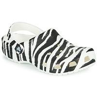 Čevlji  Ženske Cokli Crocs CLASSIC ANIMAL PRINT CLOG Zebre