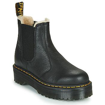 Čevlji  Ženske Polškornji Dr Martens 2976 QUAD FL Črna