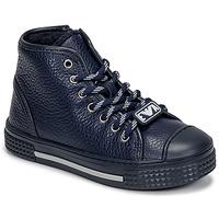 Čevlji  Otroci Visoke superge Emporio Armani XYZ004-XOI25 Modra