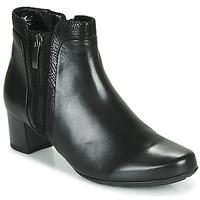 Čevlji  Ženske Gležnjarji Gabor 5282857 Črna