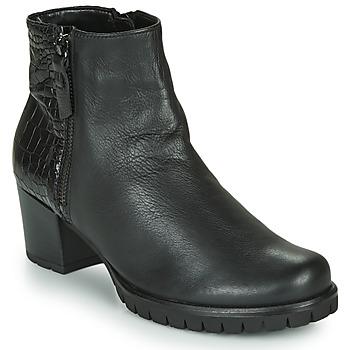 Čevlji  Ženske Gležnjarji Gabor 5665367 Črna