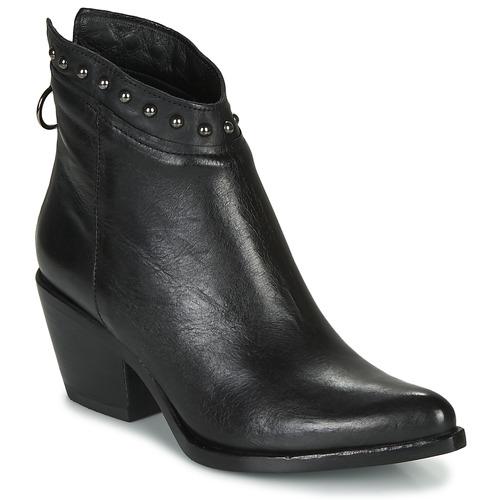 Čevlji  Ženske Gležnjarji Mjus TEP Črna