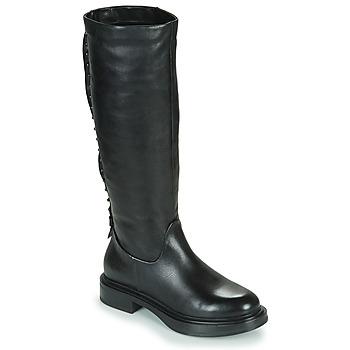 Čevlji  Ženske Mestni škornji    Mjus MORGANA HIGH Črna
