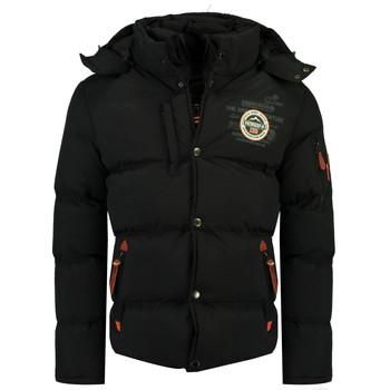 Oblačila Dečki Puhovke Geographical Norway VERVEINE BOY Črna