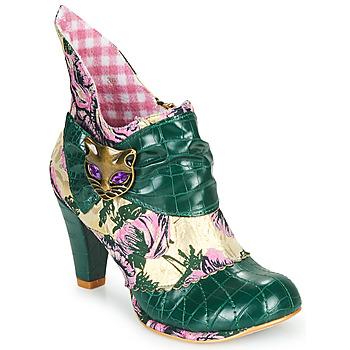 Čevlji  Ženske Gležnjarji Irregular Choice MIAOW Zelena